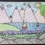 Grade 5 zentangle landscape drawing 46