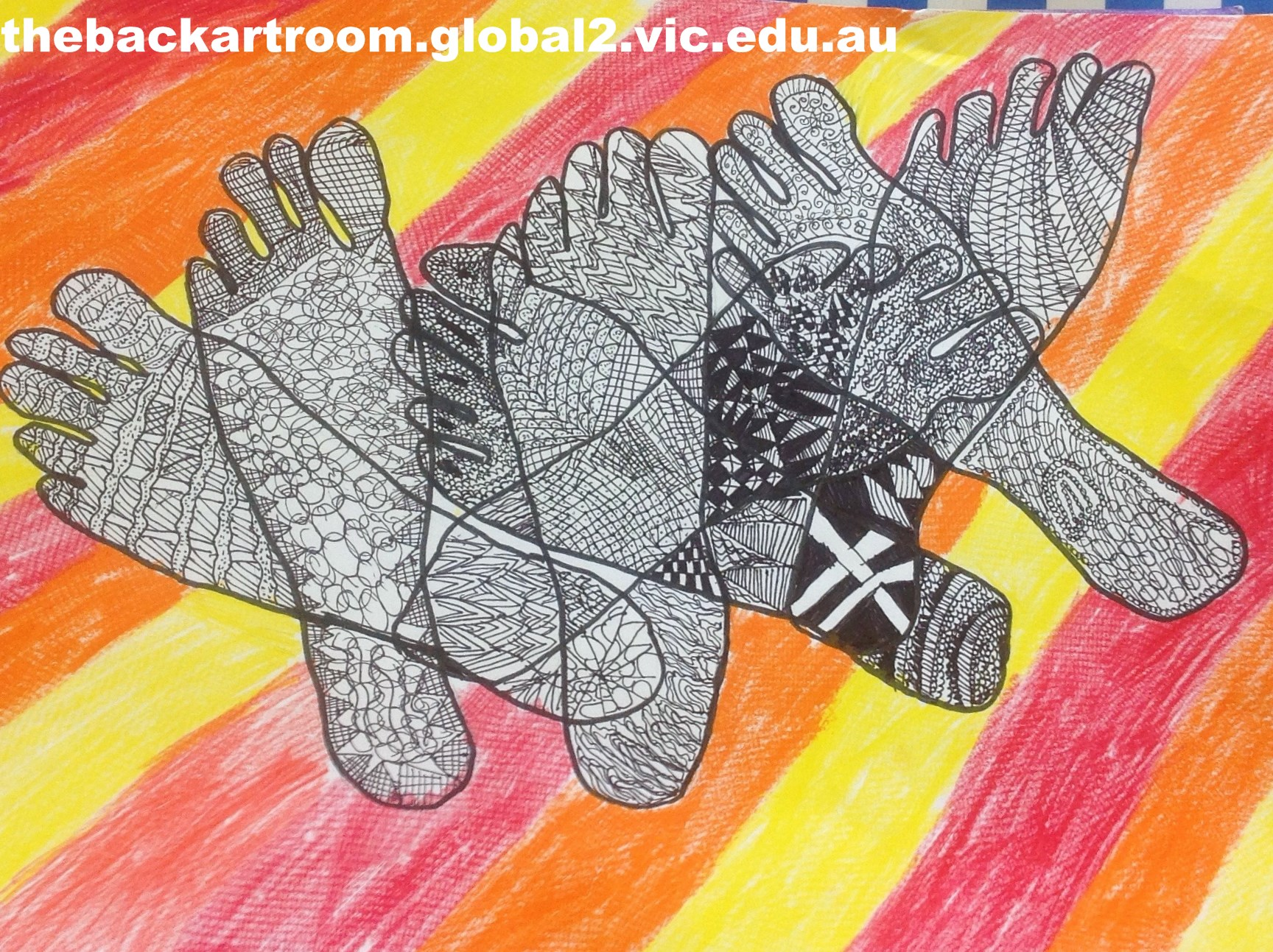 Grade 4 foot zentangle 25 2015