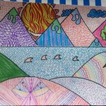 Grade 5 zentangle landscape drawing 21