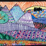 Grade 5 zentangle landscape drawing 24