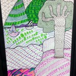 Grade 5 zentangle landscape drawing 26