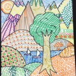 Grade 5 zentangle landscape drawing 28