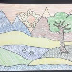 Grade 5 zentangle landscape drawing 9
