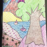 Grade 5 zentangle landscape drawing 10