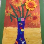 grade 3 van gogh sunflowers painting 2 2015