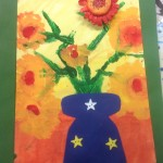 grade 3 van gogh sunflowers painting 3 2015