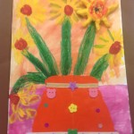 grade 3 van gogh sunflowers painting 4 2015