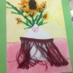 grade 3 van gogh sunflowers painting 5 2015