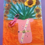 grade 3 van gogh sunflowers painting 6 2015