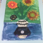 grade 3 van gogh sunflowers painting 13 2015