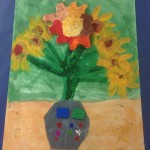 grade 3 van gogh sunflowers painting 18 2015