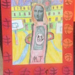 grade 5 mona lisa parody drawing 2015 15