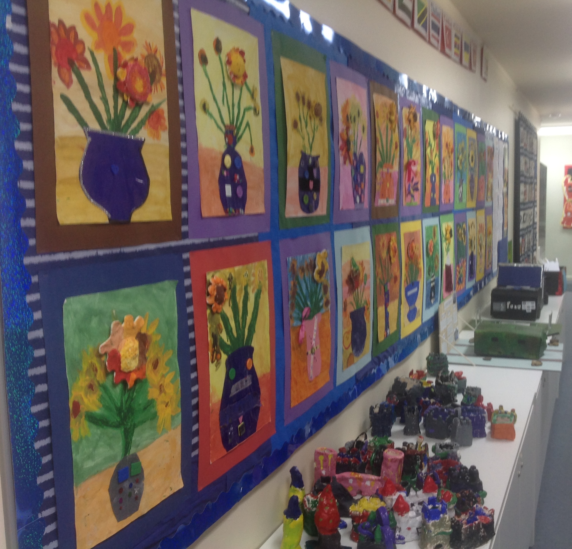 grade 3 van gogh sunflowers painting 42 2015