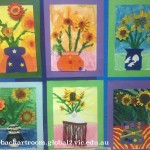 grade 3 van gogh sunflowers painting 45 2015