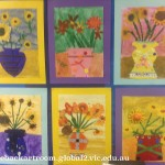 grade 3 van gogh sunflowers painting 46 2015